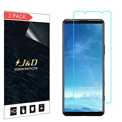 J&D Compatibile per Sony Xperia 5 II Pellicola Protettiva, 3 Confezioni Non Piena Copertura Trasparente Protezione Schermo per Xperia 5 II