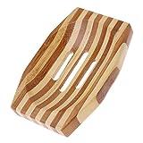 lunji Tür Seife Holz rutschfest für Seife, Schwamm 8x 11,8x 1.6cm