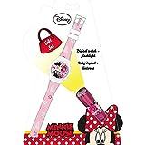 Minnie Mouse- Reloj, Linterna (Kids Euroswan WD16848)