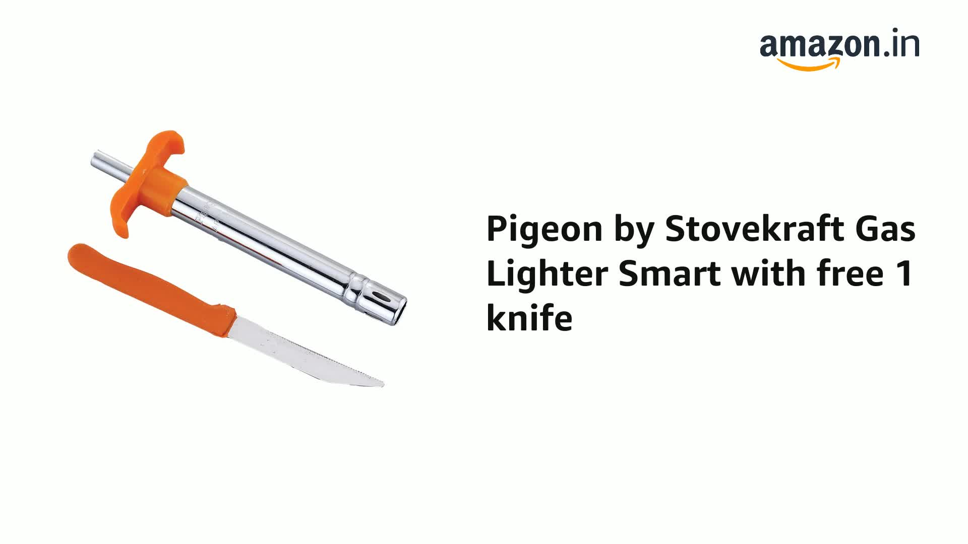 Pigeon-by-Stovekraft-Gas-Lighter-Smart-with-free-1-knife