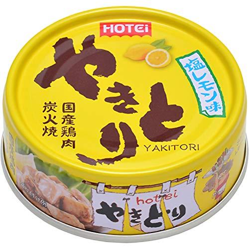 ホテイフーズ やきとり 塩レモン味 70g×24缶セット