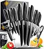 Home Hero 17 Pieces Kitchen Knives Set, 13...