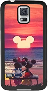 DISNEY COLLECTION Tire Phone Case Fit for Galaxy S5 Mickey Mouse Sunset Skid Shock Proof Cute Cartoon Protective Cover