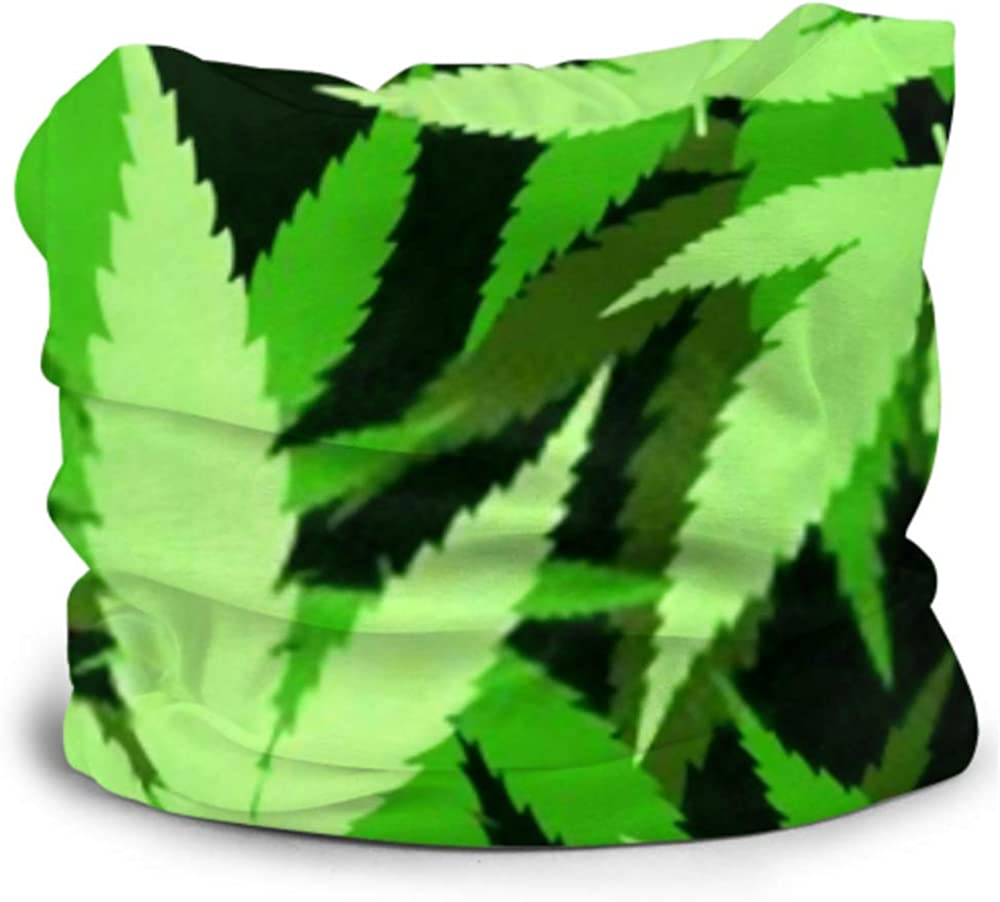 Headbands For Men Women Neck Gaiter, Face Mask, Headband, Scarf Abstract Leaves Marijuana Vector Background Turban Multi Scarf Double Sided Print Womens Headbands Workout For Sport Outdoor