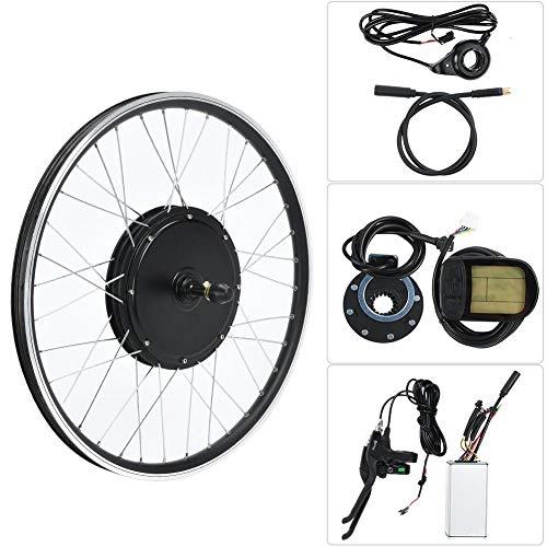 Kit de Bicicleta de Montaña, Rueda de 20 Pulgadas 48V 1500W Kit de Conversión de Bicicleta Eléctrica Kits de Motor de Bicicleta Eléctrica Potente Controlador con Medidor KT-LCD5, Cable Impermeable