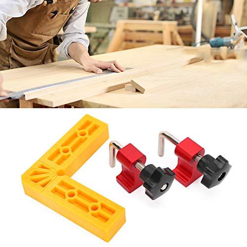 Fishawk Escuadras de sujeción, Regla de Herramienta de Carpintero con Clip de posicionamiento obvia con calibración para Marcos de Fotos para carpinteros para Cajas