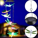 KUAHAIHINTERAL Solar Power Wind Chime Light Spiral Spinner Decorative Mobile Waterproof Outdoor Romantic Wind Bell Light… 3