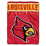 NORTHWEST NCAA Louisville Cardinals Raschel Throw Blanket, 60' x 80', Basic