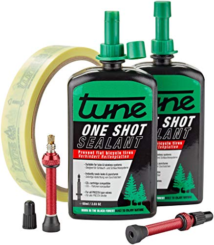 Tune One Shot Tubeless Kit Road 60ml inkl. 18mm Felgenband Rot 2020