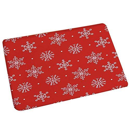 Depory Antideslizante Felpudo con la impresión del patrón de Navidad Suave y Cómodo Alfombra Mat Alfombrillas...