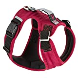 Gooby Pioneer Dog Harness with Control Handle & Seat Belt Restrain Capability, Large, Red