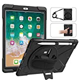 MoKo Coque de Protection Compatible avec iPad 9.7, 4 Couches de Protection,Incarné d'un Support...