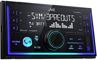 JVC KWX830BTS Car Stereo - Double Din, Bluetooth Audio and Calling, MP3 Player, USB Port, AUX Input, AM/FM Radio Receiver, Multi Color Illumination