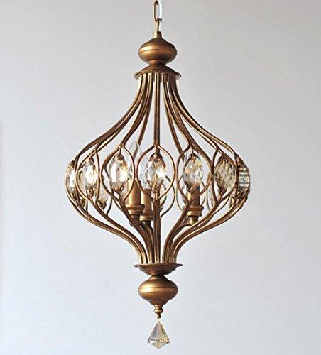 Linterna nórdico vela en hierro lustre 40W D36cm H42cm E143cabeza para salón, comedor, diseño de dormitorio, plafón