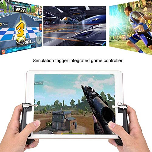 Yppss Mobile Game-Controller, Wireless-Gaming-Controller, 4 Trigger-Spiel Joystick Gamepad Joypad Spiel Griff, kompatibel for iPad/Android/iOS / H2 Tablet, for/Call of Duty/Fornite Eternal