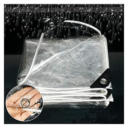 JIANFEI Transparente Cobertura De Plástico, Cubierta De Nieve Gruesa A Prueba De Viento Al Aire Libre, Pantalla De Calentamiento De Invernadero De Plantas Pantalla PVC