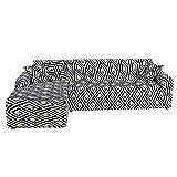 WXQY La Funda de sofá elástica elástica es Adecuada para sofás en General, Sala de Estar combinada, Funda de sofá de Esquina en Forma de L, A10, 3 plazas