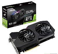 ASUS デュアルNVIDIA GeForce RTX 3060 Tiゲーミンググラフィックスカード (PCIe 4.0、8GB GDDR6メモリ、HDMI 2.1、DisplayPort 1.4a、Axial-tech ファンデザイン、デュアルBIOS、保護バックプレート、GPU Tweak II)