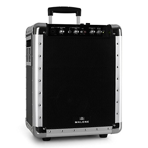 Malone PAS1 Streetrocker - PA-Lautsprecherbox, mobiler PA-Lautsprecher, Audiosystem, 50 Watt RMS, 16,5 cm (6,5