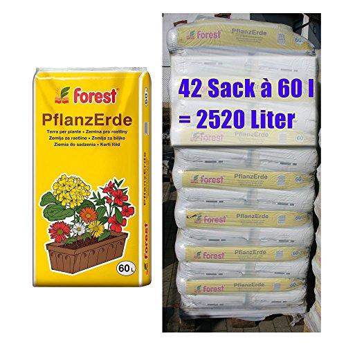 Pflanzerde FOREST 42 Sack mit je 60 Liter = 2520 Liter Qualitäts-Blumenerde aus Bayern