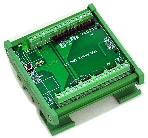 Electronics-Salon, modulo adattatore per Arduino UNOR3, morsetto con guida DIN e attacco a vite