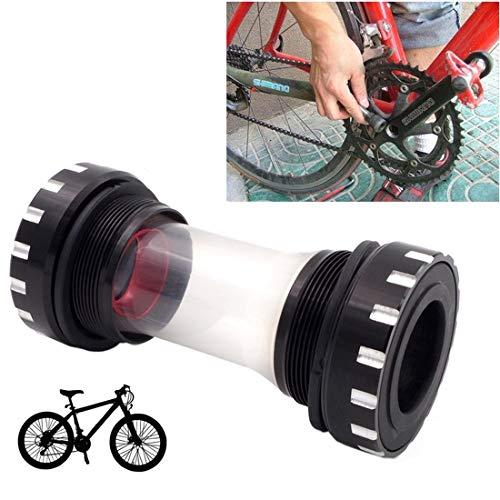 HQ's perfect store Équipement de vélo Alliage d'aluminium de Bas en Alliage d'aluminium, Support Acrylique est 68-73mm, approprié pour Shimano, vélo de Montagne. Sûr et Pratique (Couleur : Noir)