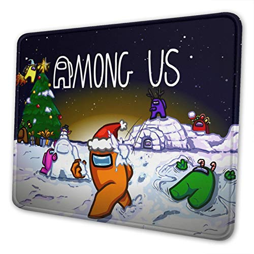Am-ong-Us Mousepad Imposter crewmate Large Gaming Mousepad Laptop Mouse Pad Waterproof Non-Slip Mouse Pads Premium-Textured Mouse Mat Desk Decor Suitable for Office Family Games 10x12 Inch