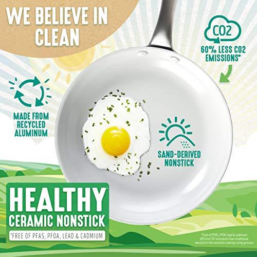 "GreenLife Classic Pro Healthy Ceramic Nonstick, Frying Pan, 12"", Light Gray"