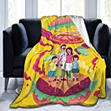 Dooflying JenBartel Bobs Burgers Super Soft Anime Printed Blankets, Ultra-Soft Micro Flannel Fleece Blanket Blankets