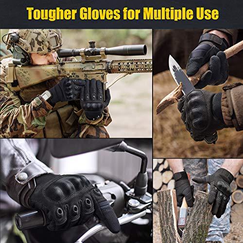 [Sport Handschuhe] FREETOO Motorrad Handschuhe Herren Vollfinger Army Gloves Ideal für Airsoft, Militär,Paintball,Airsoft, lebenslange Garantie - 6