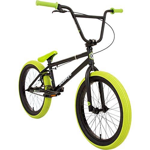Bullseye Projekt 501 BMX 20 Zoll Park Freestyle Bike Fahrrad (Schwarz/Grün)