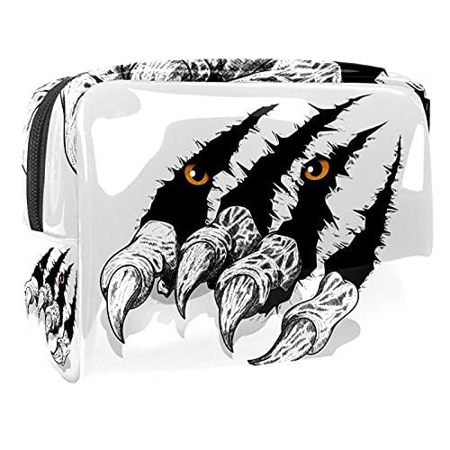 Neceseres de Viaje Arañazos de Garras de Tigre Portable Make Up Bags...