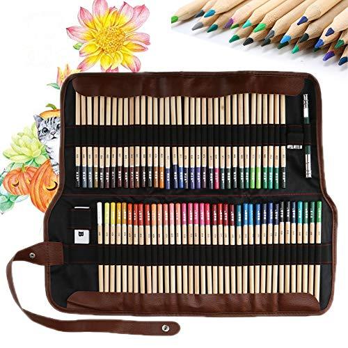 Lypumso 72 Buntstifte Set, Farbstifte Malstifte Buntstiften, Farbiger Bleistifte zum Malen und Skizzen, Holzfarbstifte Farbbleistift Skizzierstifte für Professionelle Künstler und Anfänger