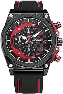 Megir Wrist Watch for Men , Silicone , MN2051G-BK-1N8