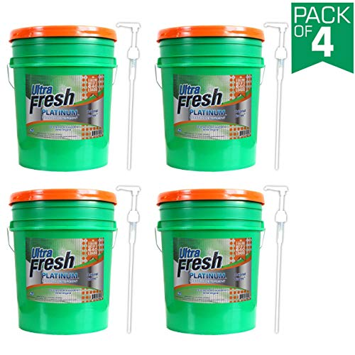 Ultra Fresh UFPGREGL Platinum Original Green Liquid Laundry Detergent, 5 gal, 640 oz (4-(5 gal, 640 Ounce))