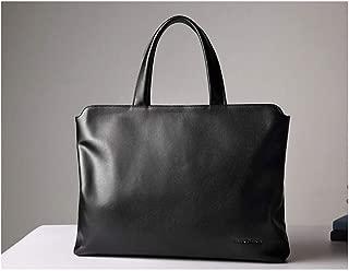 Mens Bag Briefcase Male Leather Handbag Thin Section Business Cross Section Leather Handbag High capacity