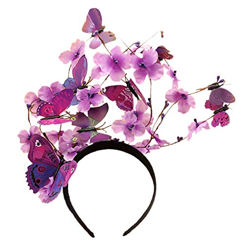 ZOYLINK Haarreif Schmetterling Party Stirnband Schmetterling Haarband Party Headpiece Schmetterling Kostüm Damen Frauen