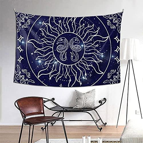 Tapiz de pared arte astrología decoración para dormitorio tapiz 90*60 pulgadas prioridad envío galaxia estrellas constelación púrpura oscuro géminis