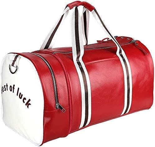 Jeppesen Bolsa de Viaje 40L Plegable Ligera Bolsa Deporte Hombre Impermeable Bolsa Fin de Semana con Compartimento Zapatos para Mujeres (Rojo)