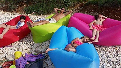 Armour&Danforth Arpouf, opblaasbare slaapbank, uniseks, volwassenen, verschillende kleuren, XXXL