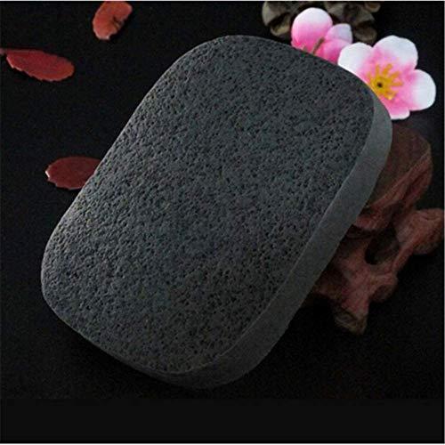 Éponge pour le visage Puff Natural Black Bamboo Charcoal Face Clean Sponge Wood Fiber Face Wash Clean Sponge Beauty Makeup Puff1pcs