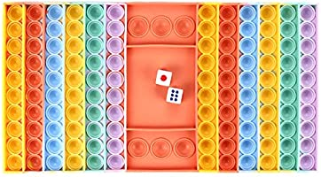 LTWZZH 1 Pcs Big Pop Rainbow Chess Board Push Bubble Fidget Toy, Board Game for Parent-Child Time,Pop Interactive Stress...