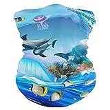 DEZIRO delfín pingüino Jelly Acuario Headwear Wrap Sport Diadema Banda para el sudor Magic Bufanda Casco Liner, Pasamontañas para pesca, senderismo, correr, motociclismo
