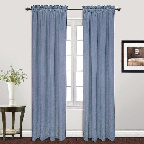 United Curtain Metro Woven Finestra Tenda a Pannello, 54da 213,4cm, Blu