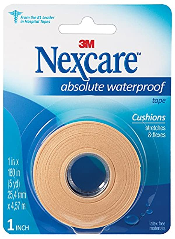 Nexcare Absolute Waterproof First Aid Tape, Made by 3M, 1-Inch x 5-Yard Roll
