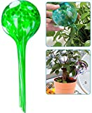 OFOCASE 5 Pcs Plant Watering Globes Automatic Glass Watering Bulbs Decorative Garden Watering Glass Drip Ball (Green)