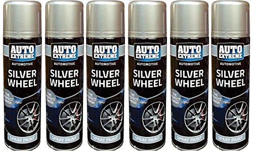Rueda de color plateado Spray de pintura aerosol puede Auto ...