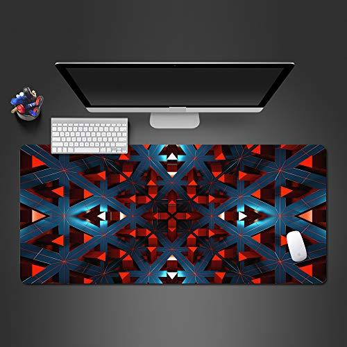 Honghuahui muismat, warm, abstract, rood, kunst muismat, popular, geavanceerd, rubber, gewassen, hoge kwaliteit, bedrukt, cool, grote muismat 600x300x2mm