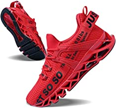 Mens Running Shoes Non Slip Athletic Walking Blade Type Sneakers Red,US 12