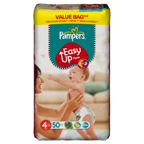 Pampers, Pannolini Easy Up, 50 pz, Taglia 4